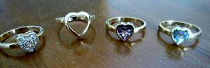 Four Sterling Silver Rings, Individual or Pair Can be Nested Kitchener / Waterloo Kitchener Area image 1