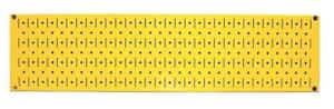 NEW Wall Control 30-P-0832 Y Narrow Metal Pegboard Runner Tool Board, 8-Inch by 32-Inch, Yellow