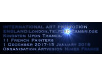 Artvesion Nimes France with 11 French Painters in England 1 December 2017-15 January 2018.