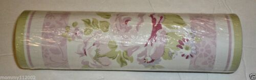 WALLPAPER BORDER wall cottage flowers chic pink NEW Kidsline Emma Rose