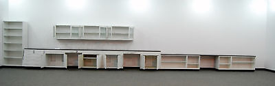 38 Base 12 Glass Door Wall Fisher Hamilton Laboratory Cabinets W Upright