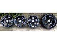 """BRABUS GENUINE 18"""" ALLOY WHEELS FOR MERCEDES/ VW/AUDI GOOD PRE-OWNED CONDITION EASY LONDON PICK UP"""