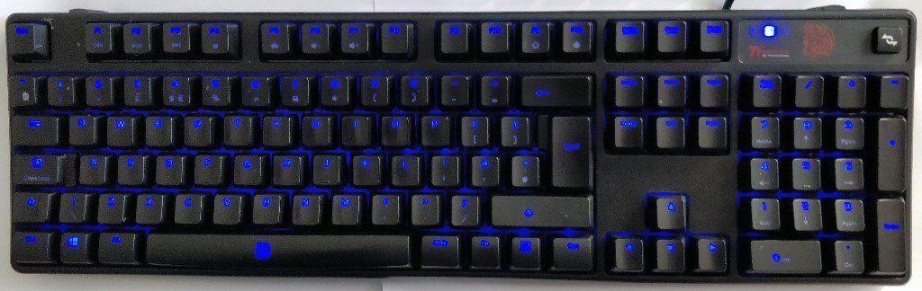 0c4b406414a Thermaltake E-Sports POSEIDON Z MECH GAMING K'BOARD BROWN SWITCH, 4-LEVEL  BLUE LED (KB-PIZ-KBBLUK)