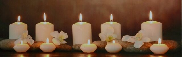 """""""Relaxing Candles"""" Large Light up LED Canvas-013, 30x90cm"""