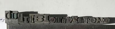 Lot 20 Metal Printing Press Typeset Block Letters Numbers Mixed Fonts Sizes 3