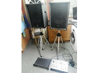 dj speakers and stands included