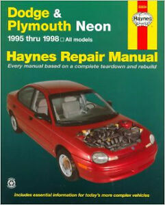 Dodge And Plymouth Neon Haynes manual 1995 thru 1999