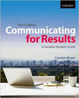Communicating for Results A Canadian Student's Guide 3rd Edtion