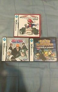 POKEMON EXPLORERS OF DARKNESS, BLEACH, MARIO KART DS GAME LOT