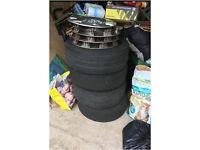 VW beetle steels and tyres
