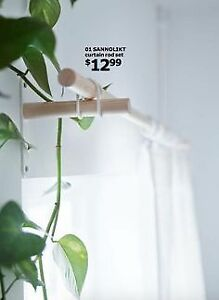 IKEA SANNOLIKT Curtain Rod Set - 2 Sets