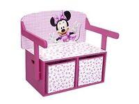 Disney Minnie Mouse Convertible Toy Box/ Desk