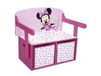 Disney Minnie Mouse Convertible Toy Box/ Desk
