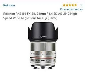 Rokinon 21mm F1.4 High Speed Wide Angle Lens for Fuji Cameras