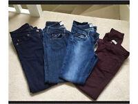 4 pairs ladies skinny jeans size 8-10