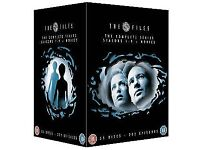 X-FILES DVD BOX SET SEASONS 1-9 + 2 MOVIES - COMPLETE COLLECTION - NEW & SEALED - £40 NO OFFERS