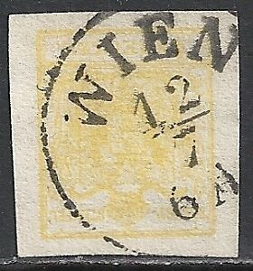 Austria-stamps-1850-YV-1-CANC-VF