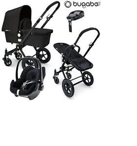 Bugaboo Cameleon stroller-bassinet 3in1 (car seat)+free footmuff