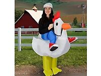 Inflatable chicken costume