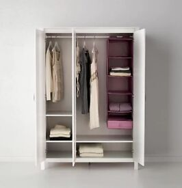 Triple Wardrobe - white, IKEA, great condition, ready to collect £40