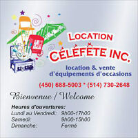 !! Location d'équipement d`occasion !! Party rental equipment !!