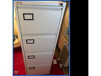 4 & 3 Drawers Foolscap Lockable Steel Filing Cabinet Coffee and Cream