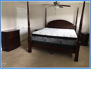 KING SIZE 4 POST BEDROOM SET