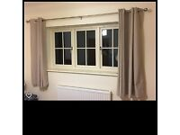 Neutral Blackout Curtains 54 drop and 66 width ring top