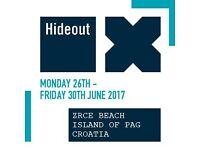 Hideout festival ticket!!!