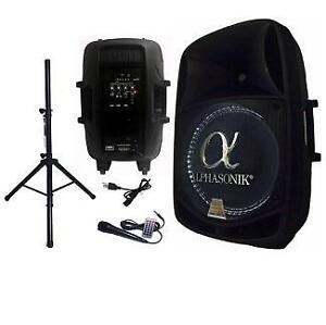 NEW ALPHASONIK BLUETOOTH SPEAKER WITH STAND AND MIC - 2800 WATT AMPLIFIED BLUETOOTH SPEAKER - AUDIO MUSIC MIC 101321545