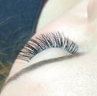 Volume and classic lash extension, gel nail