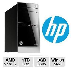 NEW HP PAVILLION DESKTOP COMPUTER - 120529803 - AMD A8 1TB 8GB  WINDOWS 8 1 OS - COMPUTER PC