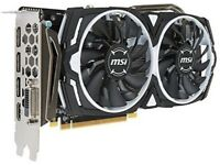 2 x Brand New MSI Radeon RX 570 ARMOR OC 4 GB graphics cards