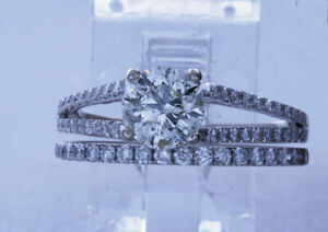 Beautiful & Romantic Engagement/Wedding ring set