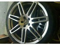 18 inch RS4 Alloy wheels 5X100 VW golf mk4 bora audi a3 s3 tt etc