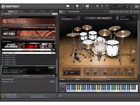 Native instruments Kontakt Player and 15 libraries.