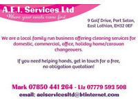 Commercial, Office, Domestic and holiday home cleaners