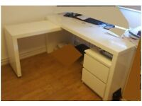 FREE Ikea Malm White Office Desk with Pull-out FREE