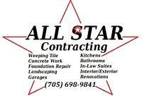 All Star Contracting... Kitchen/Bathroom Work