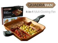 Quadrapan Professional cook 4 dishes on one hob