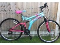 Women's full suspension moutain bike
