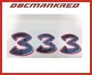 Race Number Decal