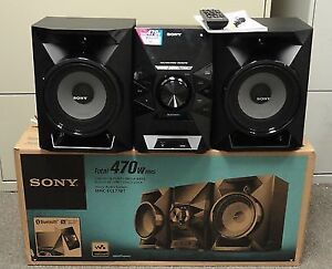 Sony MHCECL77BT 470W Wireless Music System USB CD AUX BLTH AS NEW Sylvania Sutherland Area Preview