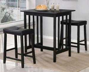 3PC Counter Height Set in Black Starting bid: $180.00 Regular Retail $439