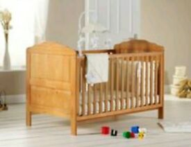 Lovely wooden cot bed.