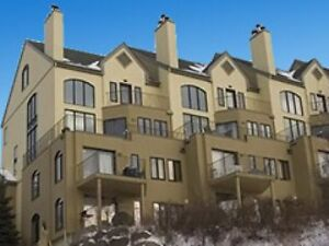 Luxurious Mont-Tremblant hill side, ski-in condo for rent.