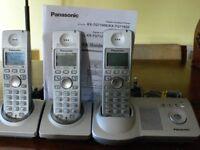 Panasonic Cordless Triple Phone with Answer Machine