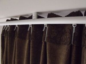 Ikea KVARTAL aluminium tringle rails curtain rod