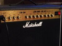 marshall amp vox cab and boss me5 peavey amp
