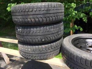 4 Michelin X Ice snow tires on winter rims 215 16OR 16